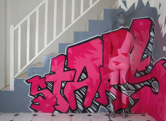 Alison Benhamou.  Graffeur : Luc Marie A./ Modele : Audrey Dufay