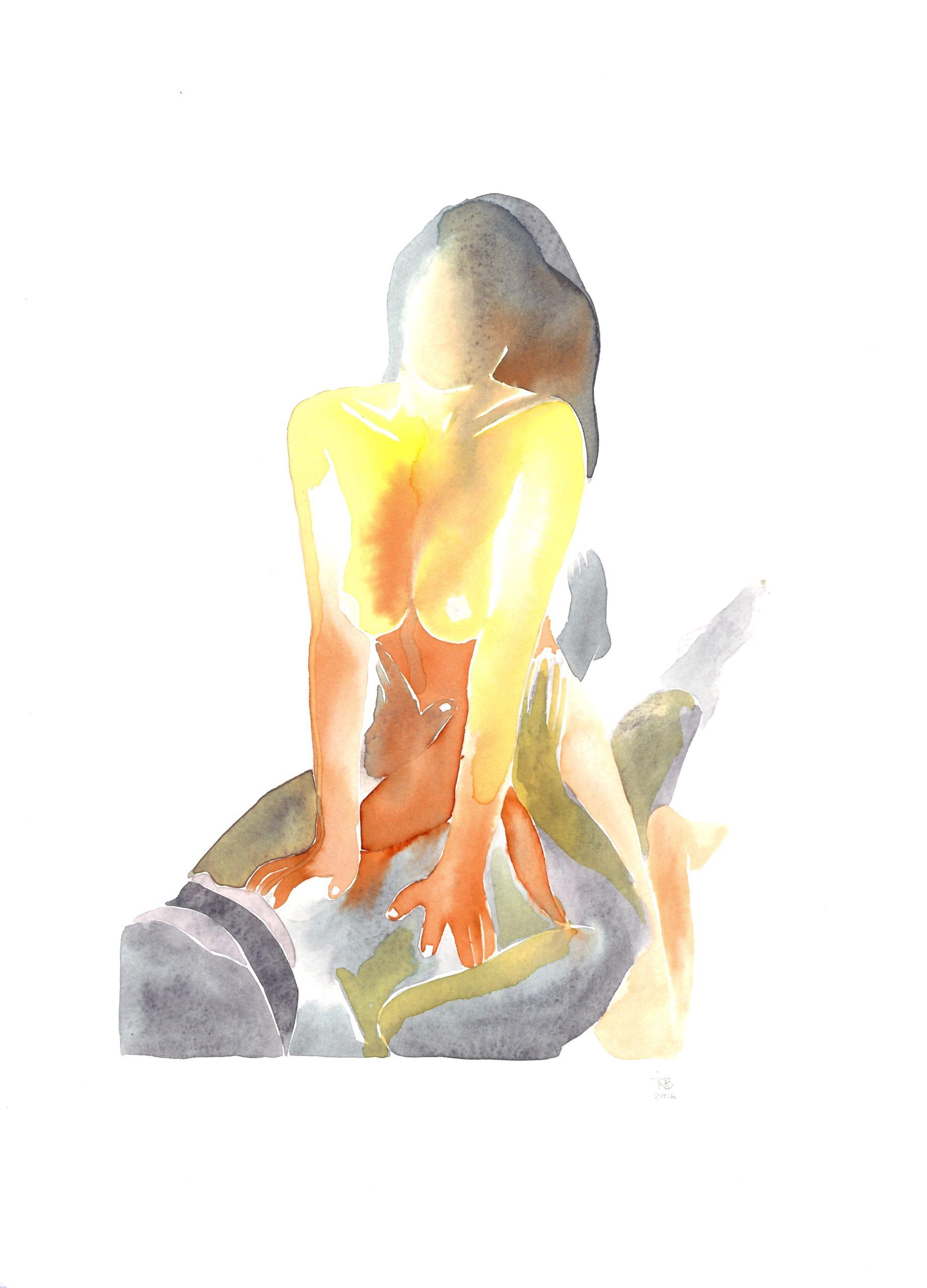 sexualité aquarelle femme
