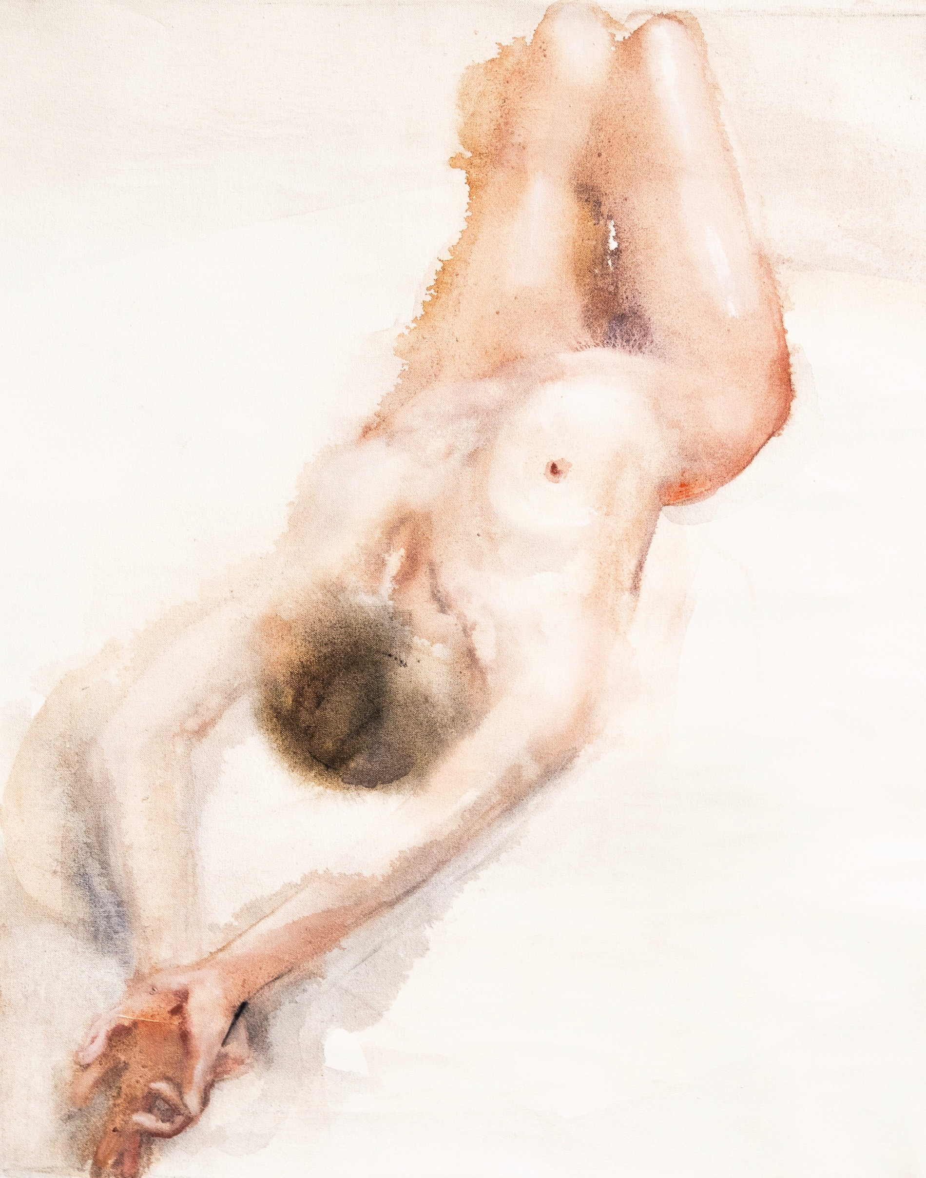 femme nue qui s'étire seins