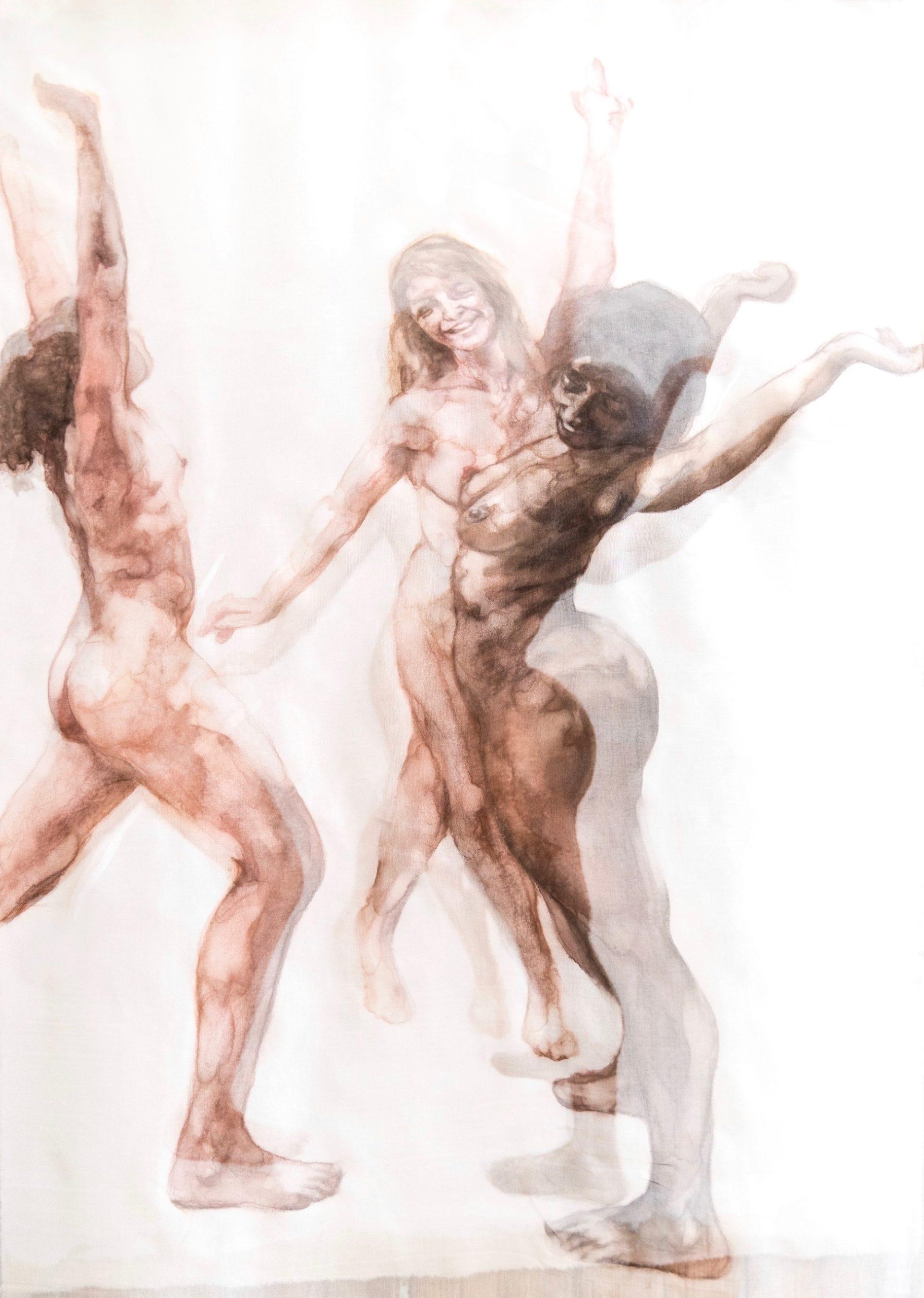 trois femmes nues qui dansent