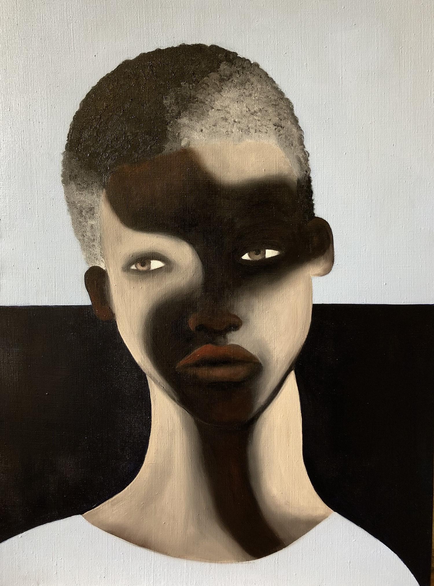 Aperçu homme ou femme ombres visage