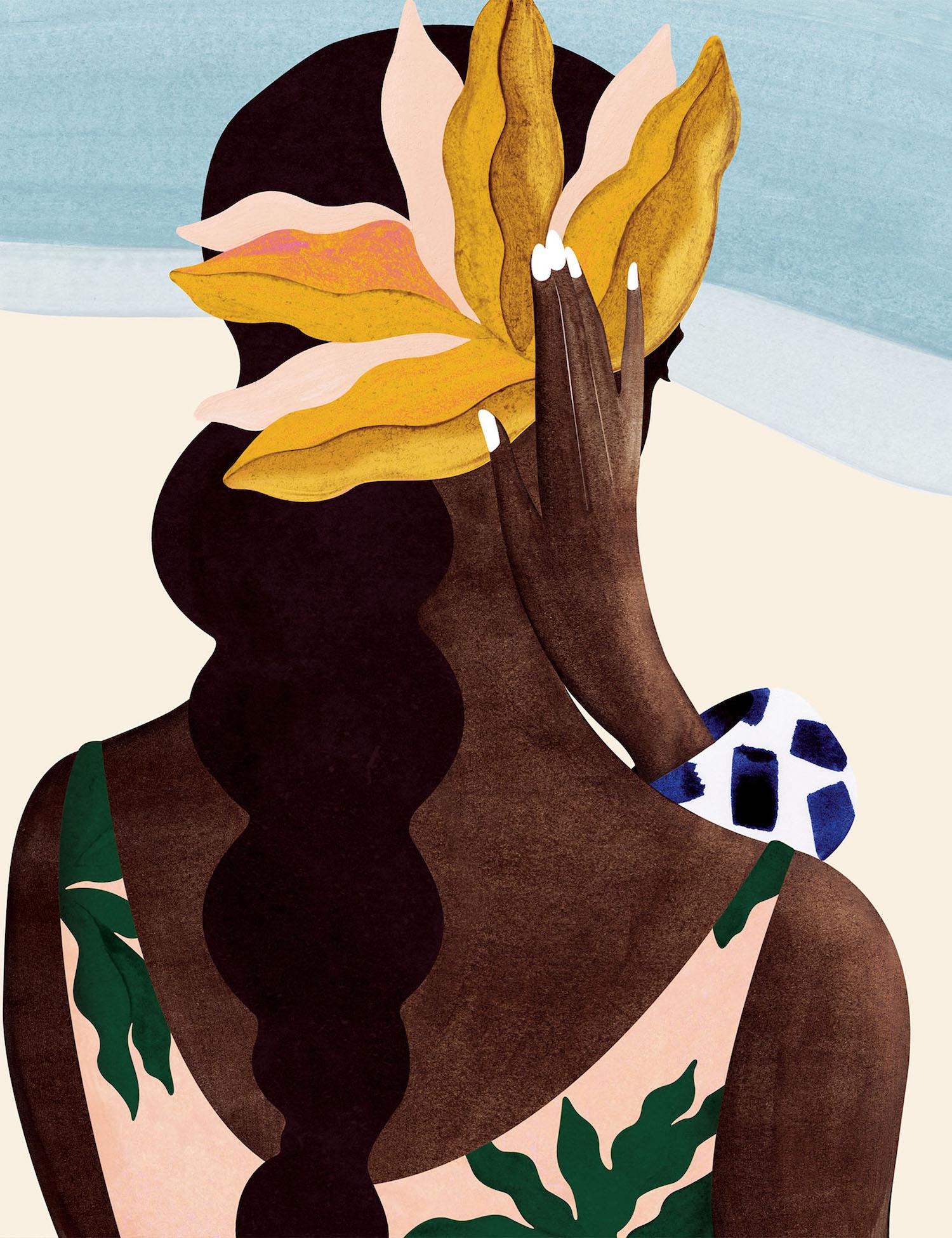 Tahiti femme polynésienne