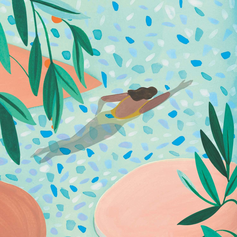 Léa Morichon nageuse au maillot jaune