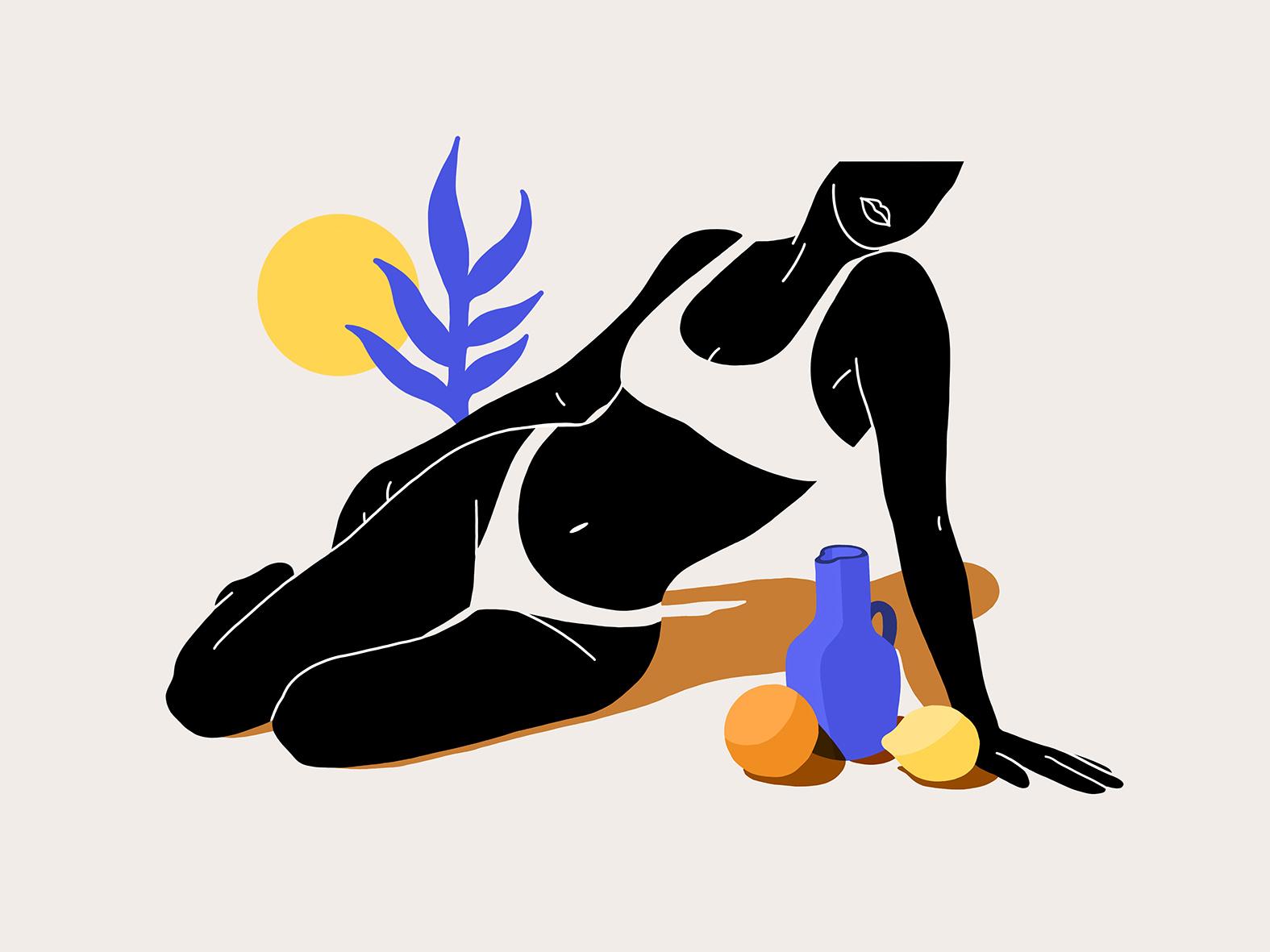 Lou Ann Coulon femme sur le sable