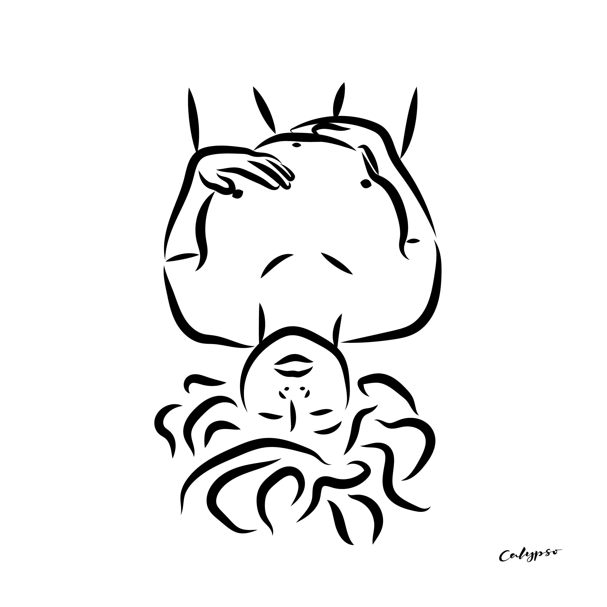 femme jouissance illustration noir et blanc