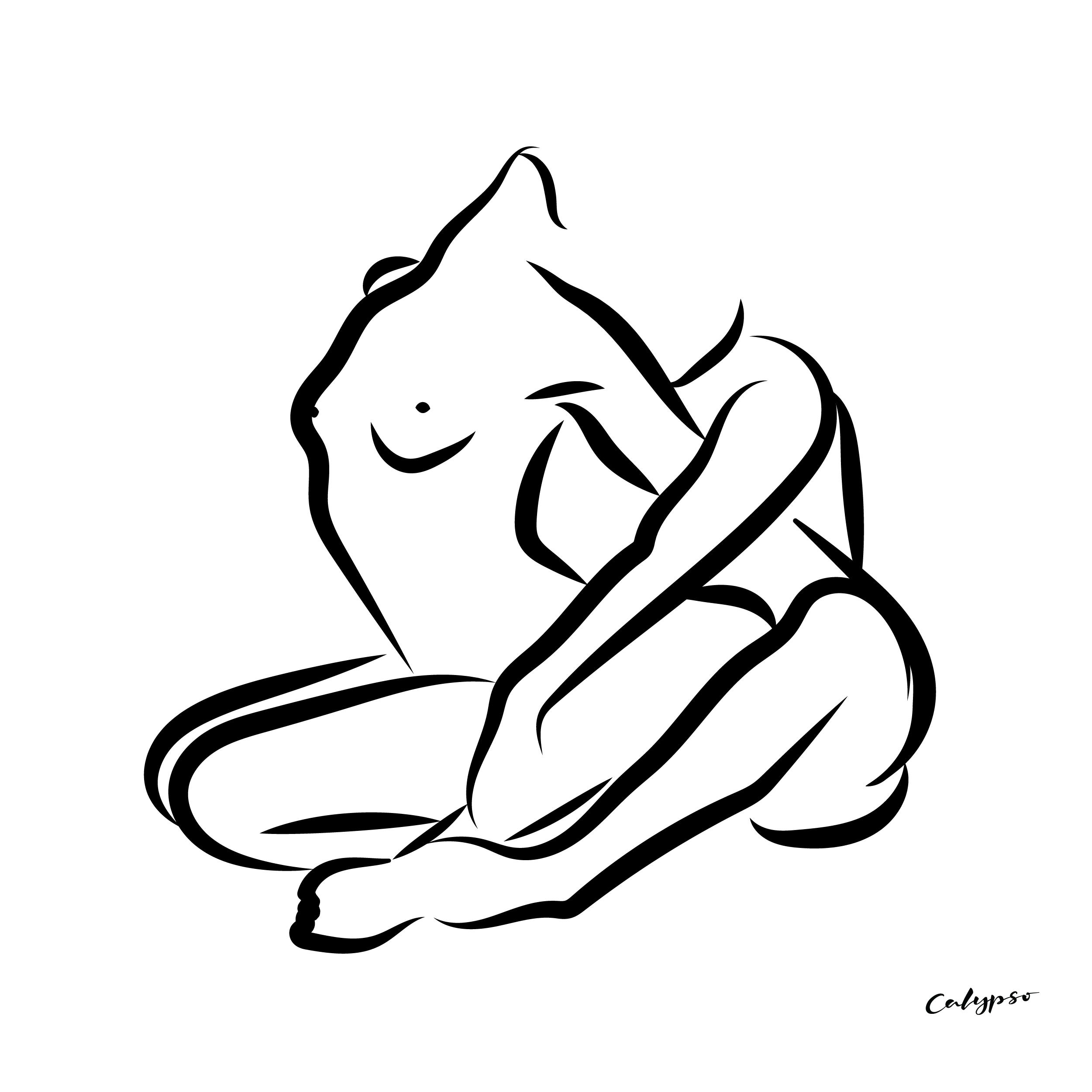 couple enlacé sensuel illustration noir et blanc