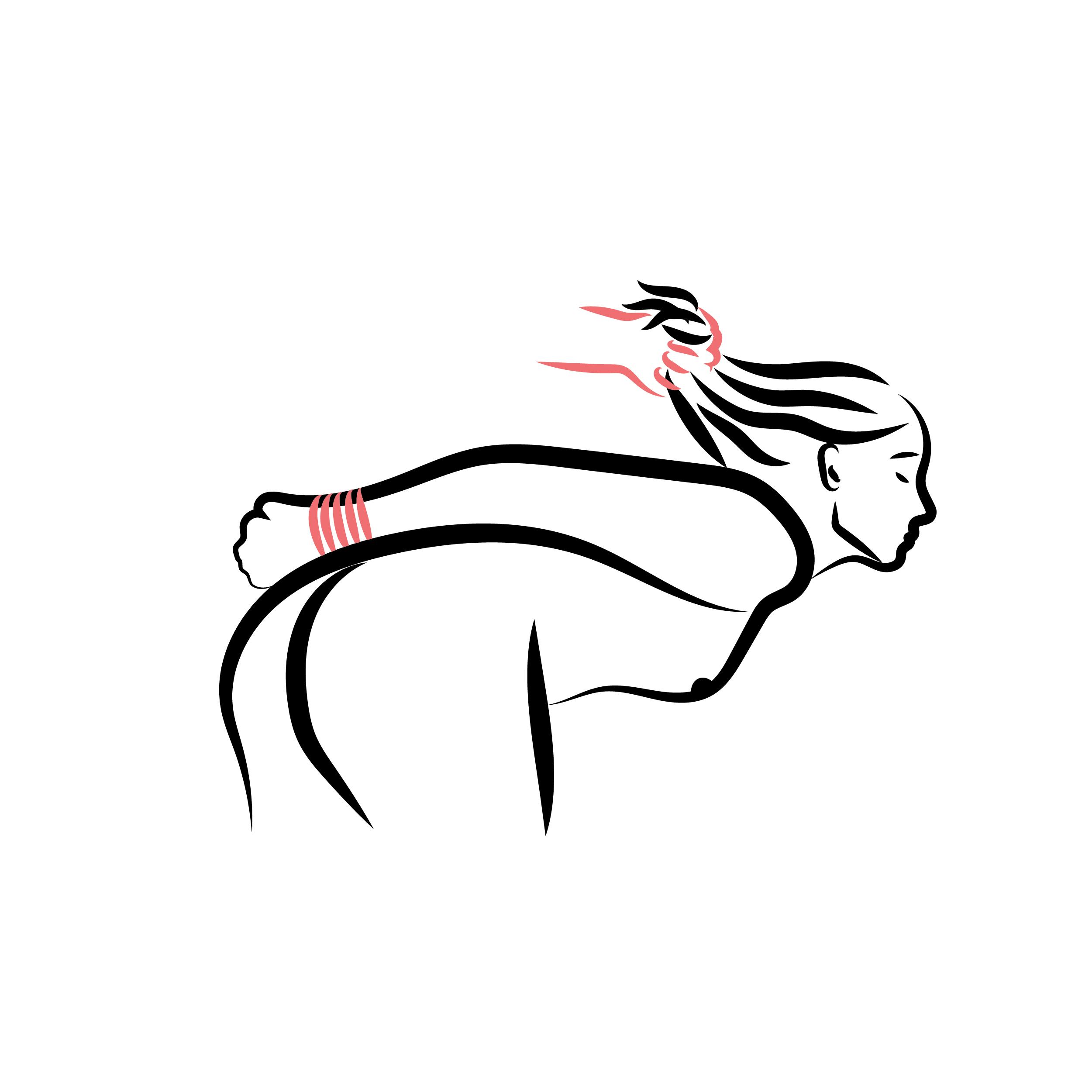 femme bondage shibari cordes rouges illustration