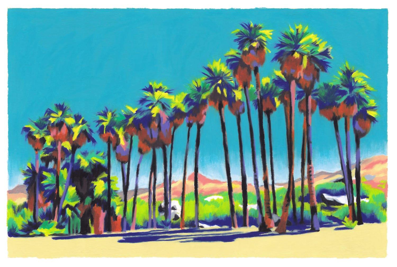 palmiers montagne désert californie
