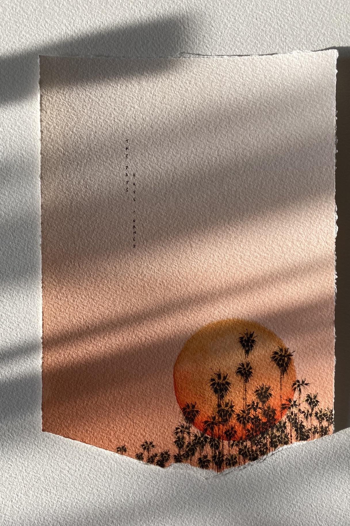 ombres et lumières soleil couchant orange