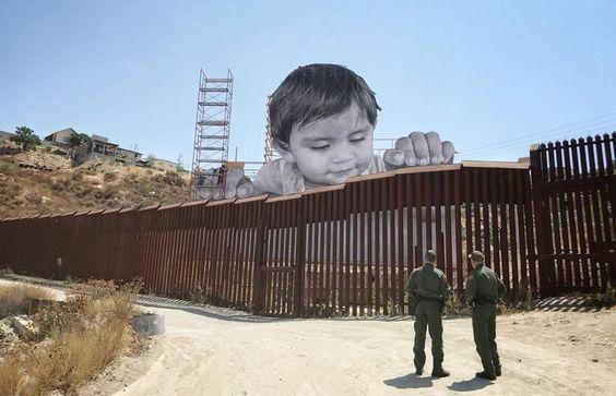 Kikito frontière art frontalier Mexique USA