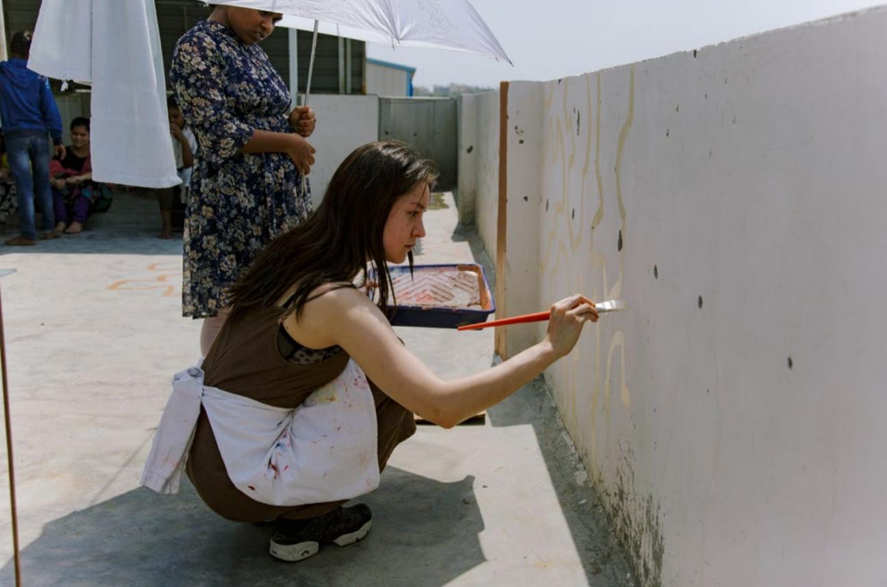 Tiffany Bouelle fresque Inde