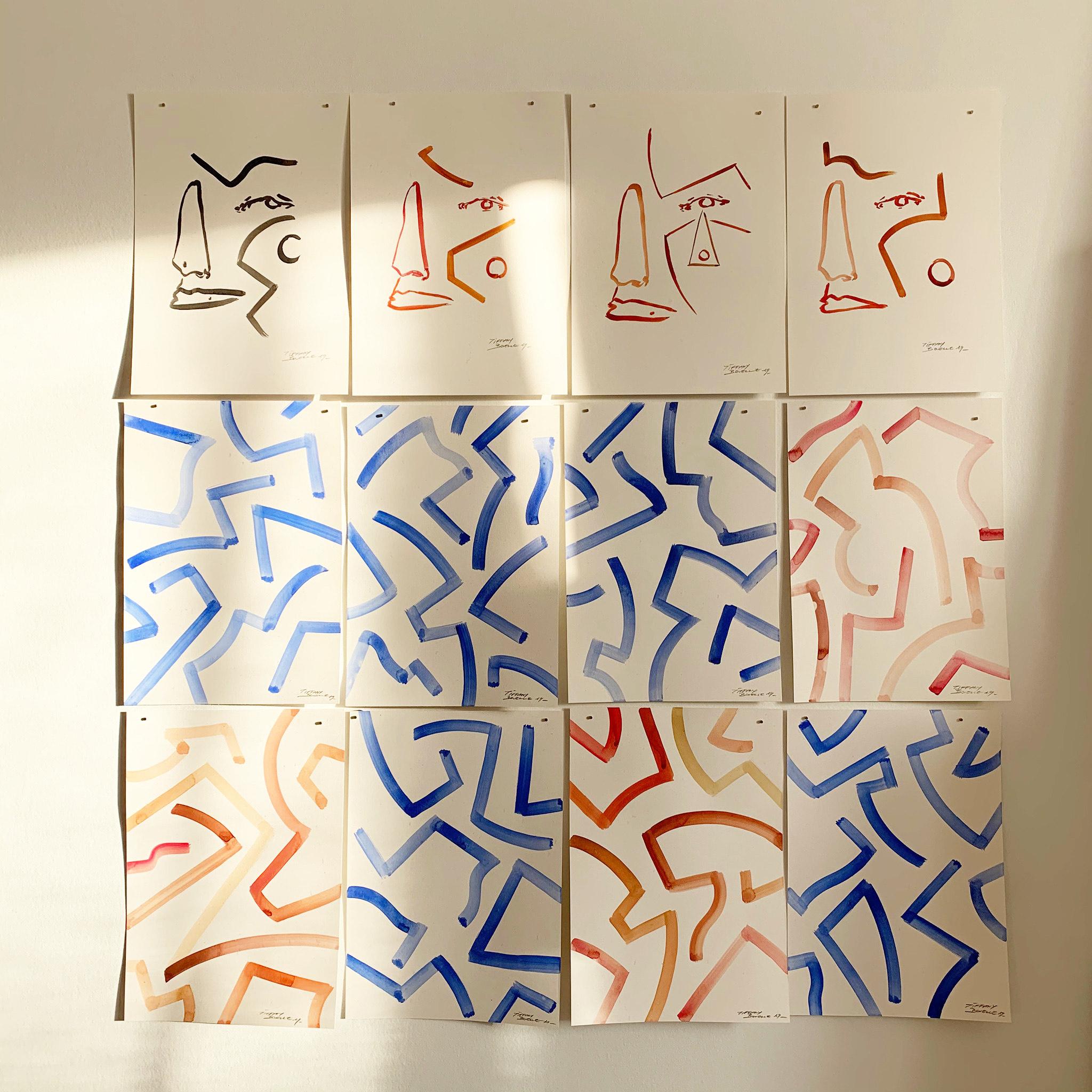 Tiffany Bouelle portraits calligraphie couleurs
