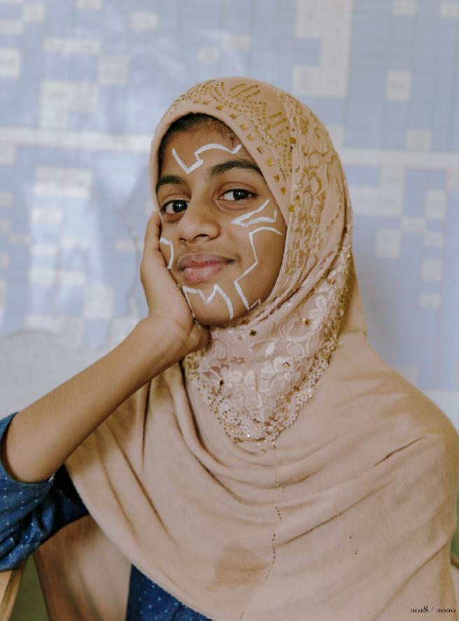 femme peinture visage portrait inde
