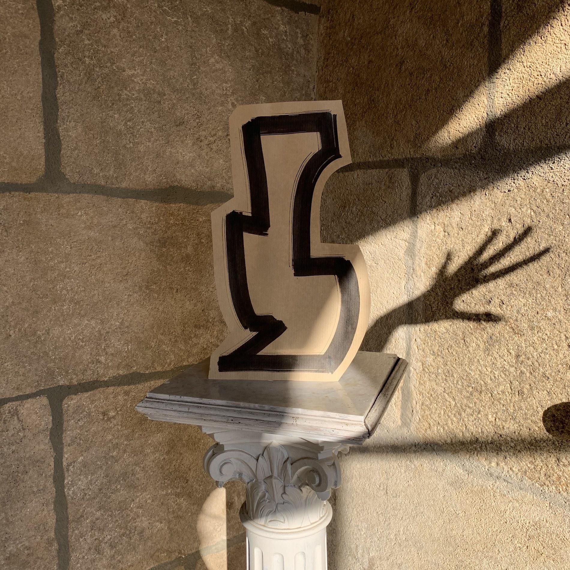 main ombre dessin mur
