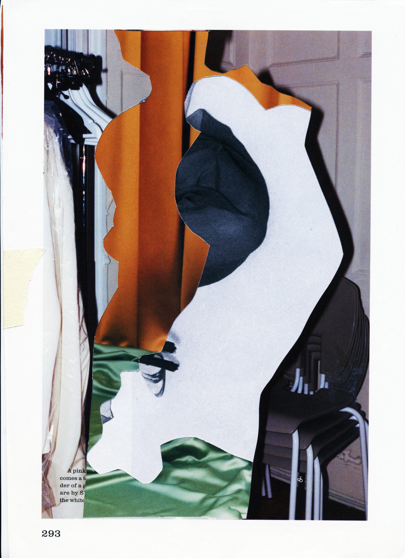 Collage et superposition de couleur et matiere