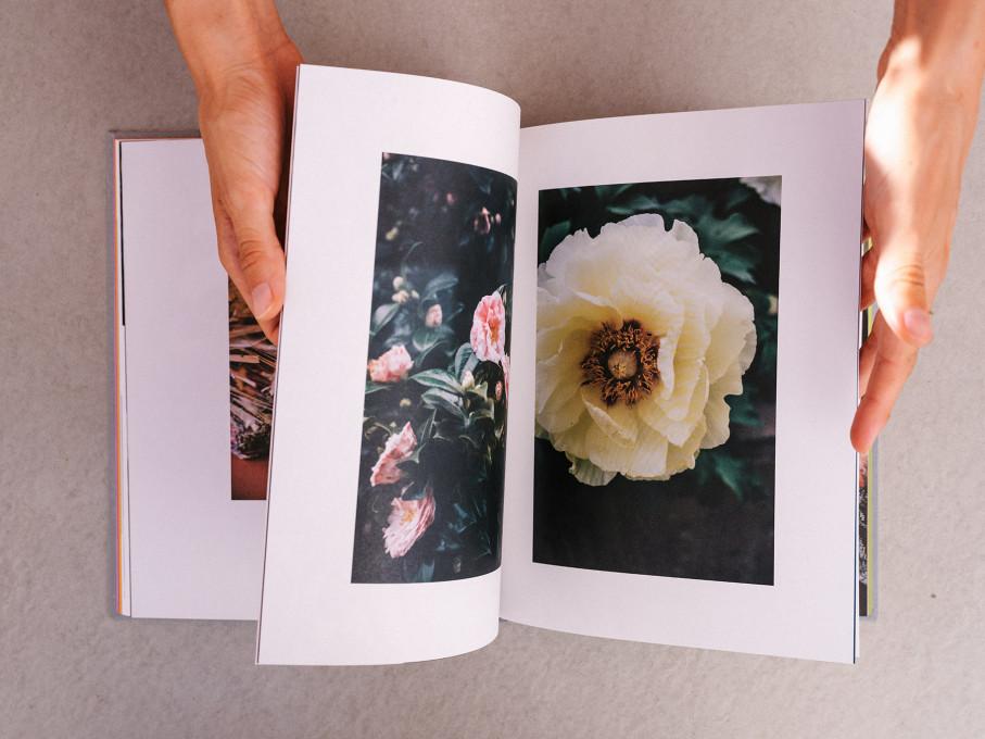 Photo prise d'en haut d'une main tournant les pages du livre de Coke Bartrina